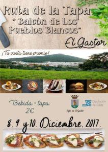 """Ruta de la Tapa """"Balcón de los Pueblos Blancos"""""""