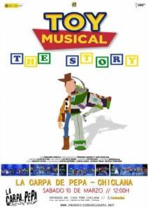 Actividades para niños en Cádiz este fin de semana.Toy Story Musical en Chiclana