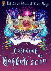 Cartel Carnaval de Barbate 2019