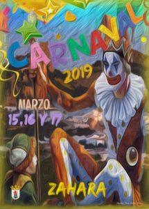 Cartel Carnaval Zahara de la Sierra 2019