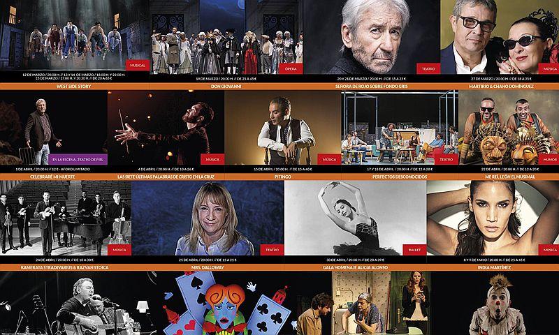 Programación del Gran Teatro Falla de Cádiz
