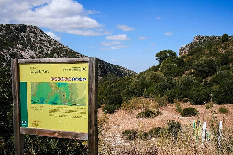 Guía de senderismo: Garganta Verde en Andalucía