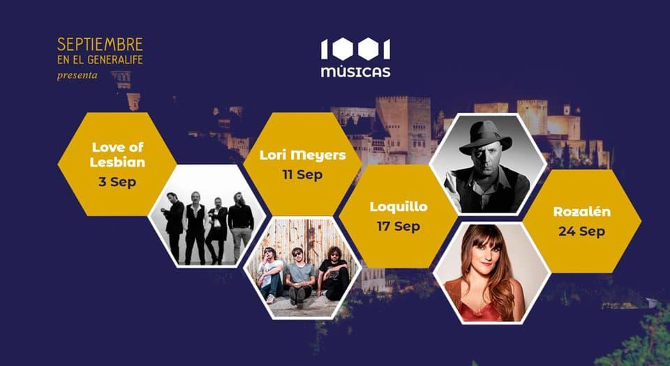 1001 Músicas en el Generalife - Granada